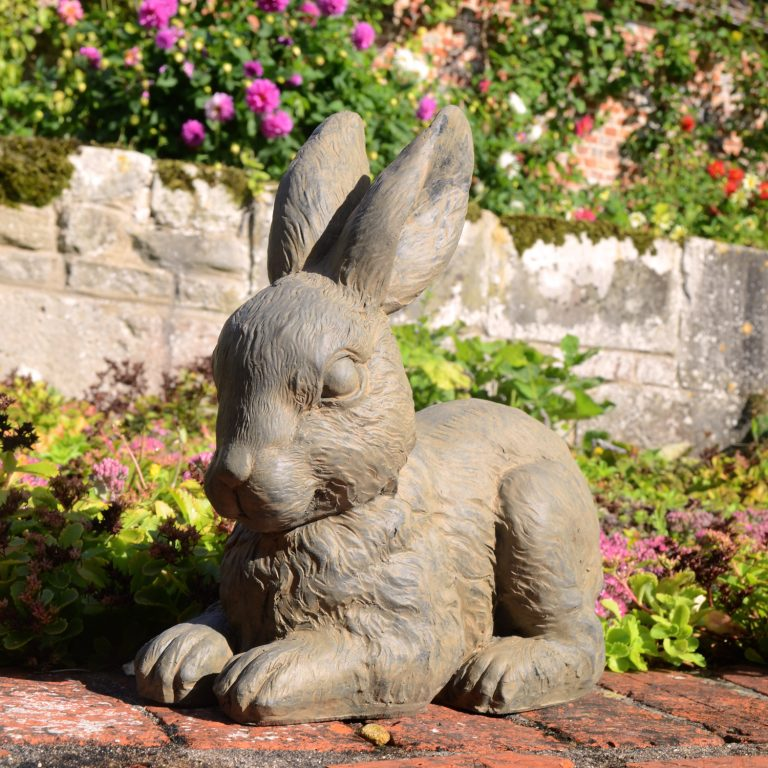 RABBIT 24CM RUST EFFECT OUTDOOR
