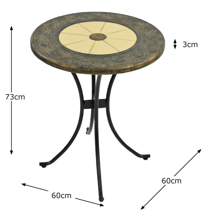 RENNES 60CM BISTRO TABLE DIMENSION MS1