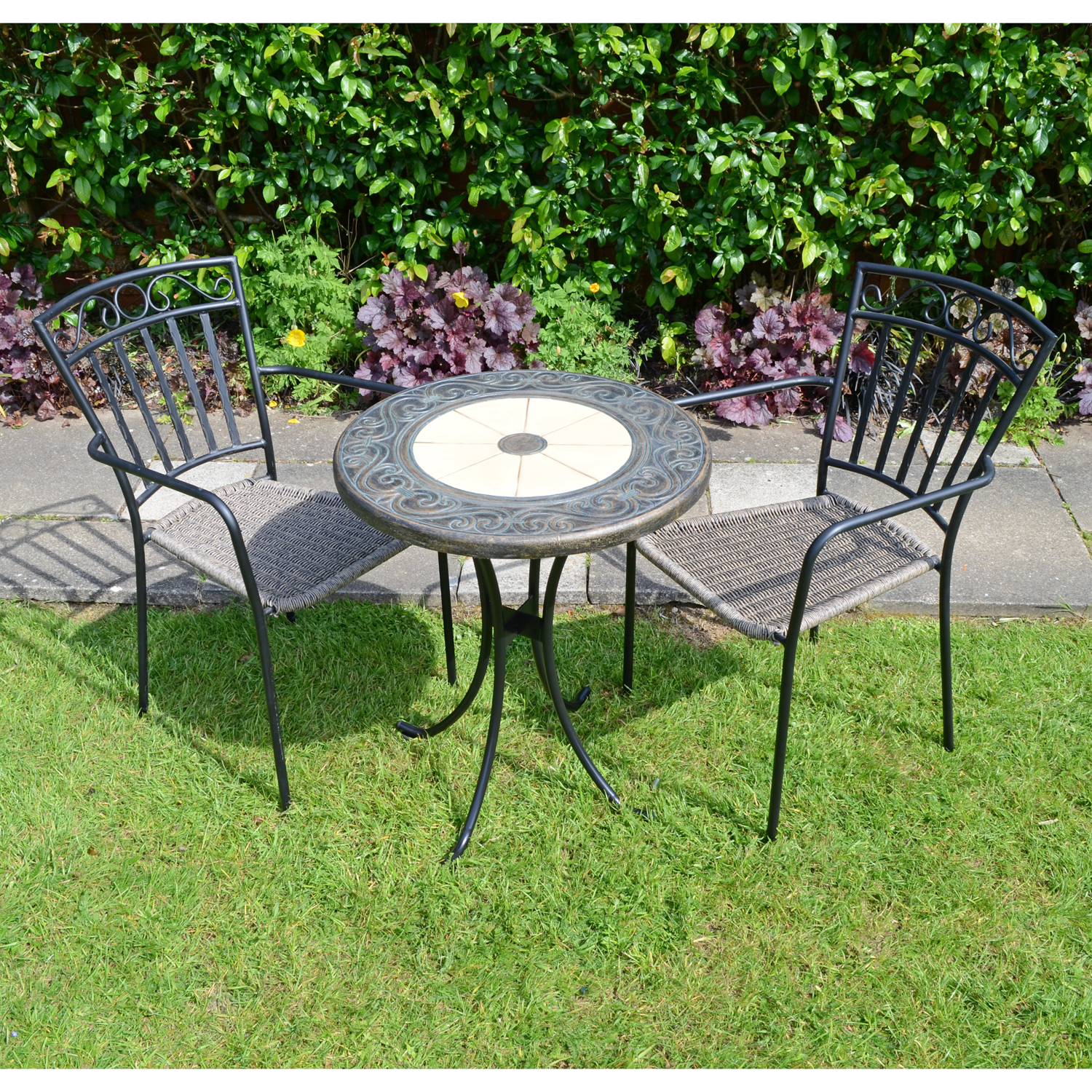 RENNES 60CM BISTRO WITH 2 MODENA CHAIRS SET LG1