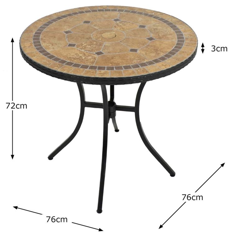 RICHMOND 76CM BISTRO TABLE DIMENSION MS1