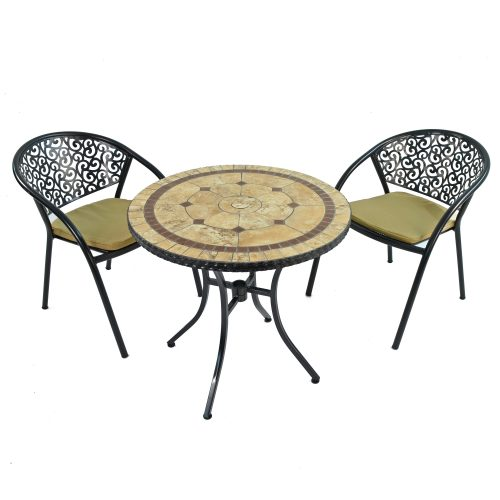 RICHMOND 76CM BISTRO WITH 2 FLORENCE CHAIRS SET WS1