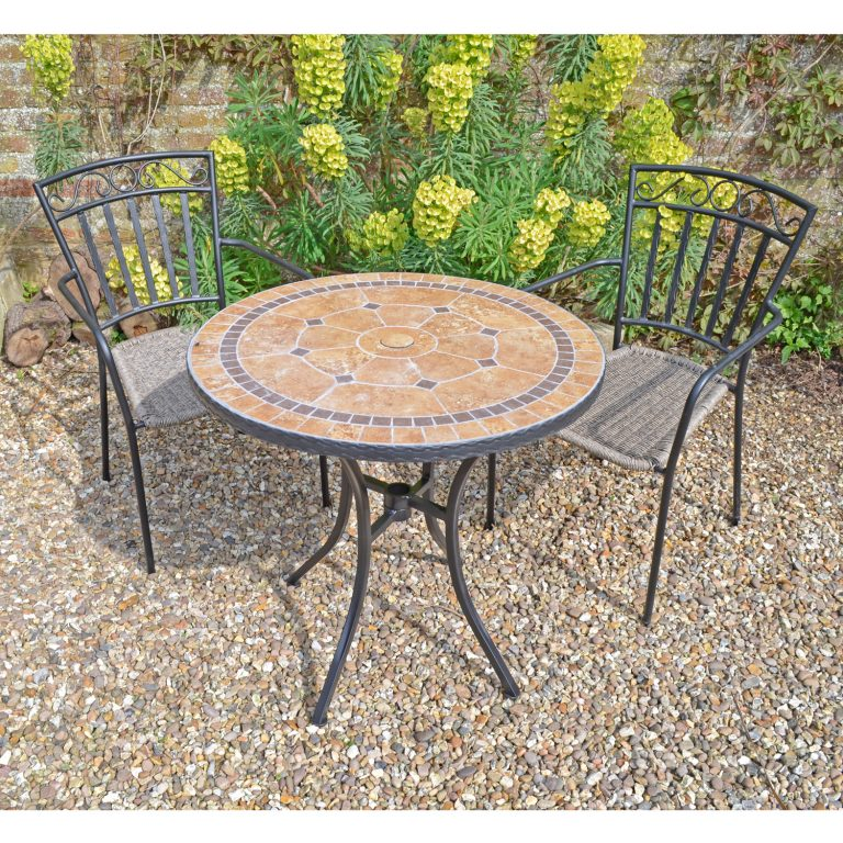 RICHMOND 76CM WITH BISTRO 2 MODENA CHAIRS SET LG1