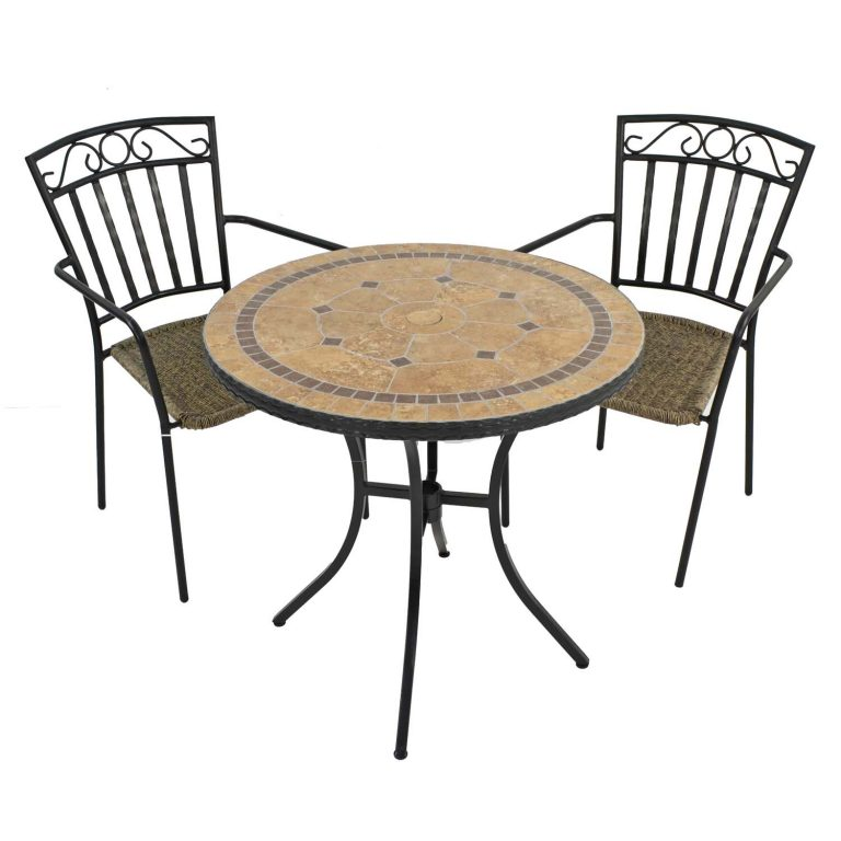 RICHMOND 76CM WITH BISTRO 2 MODENA CHAIRS SET WG1