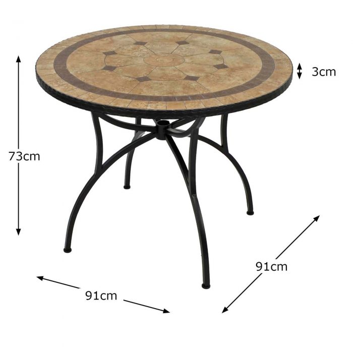 RICHMOND 91CM PATIO TABLE DIMENSION MS1