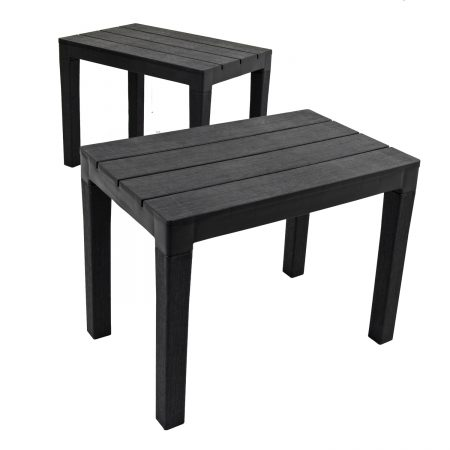 ROMA BENCH ANTHRACITE PACK OF 2