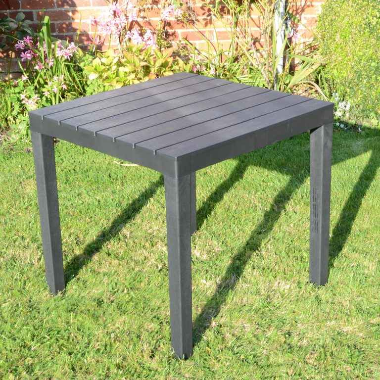 ROMA SQUARE TABLE ANTHRACITE OUTDOOR