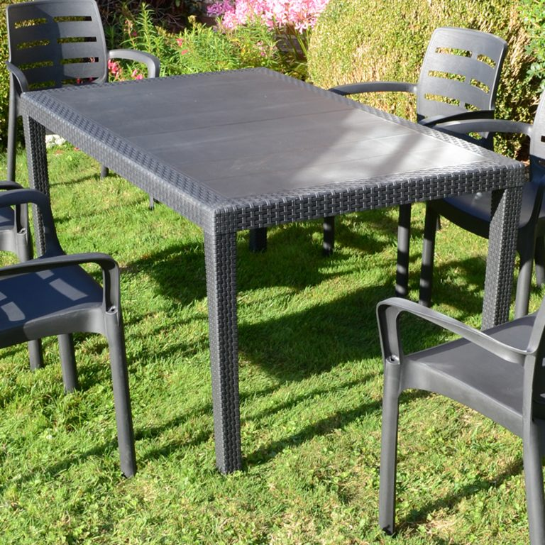 SALERNO TABLE ANTHRACITE OUTDOOR