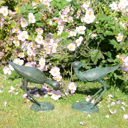 SANDPIPERS PAIR 3129CM ALUMINIUM DARK VERDIGRIS OUTDOOR2