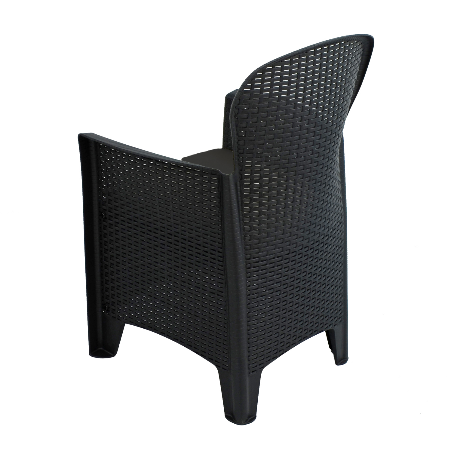 SICILY CHAIR ANTHRACITE BACK LEFT