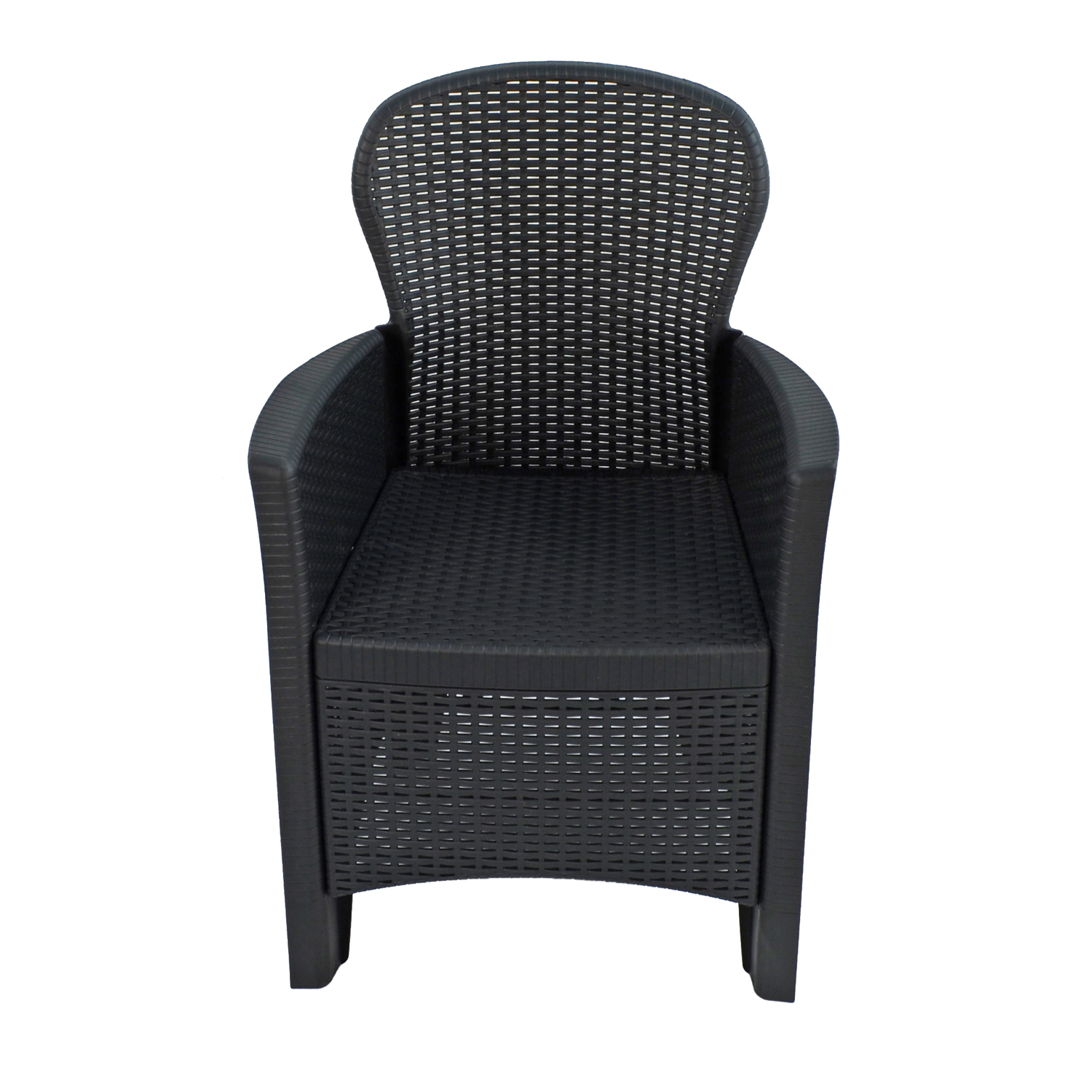 SICILY CHAIR ANTHRACITE FRONT UNDRESSED