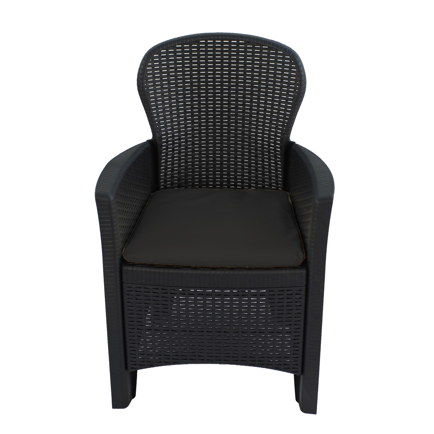 SICILY CHAIR ANTHRACITE FRONT