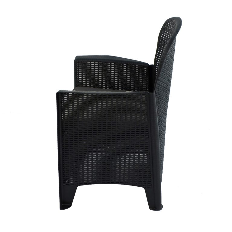 SICILY CHAIR ANTHRACITE LEFT