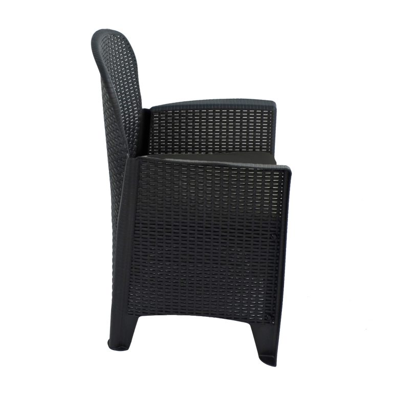 SICILY CHAIR ANTHRACITE RIGHT