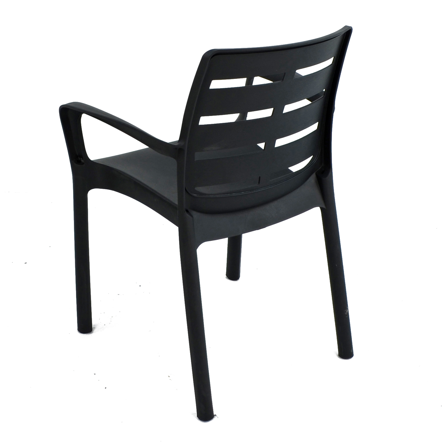 SIENA CHAIR ANTHRACITE BACK LEFT