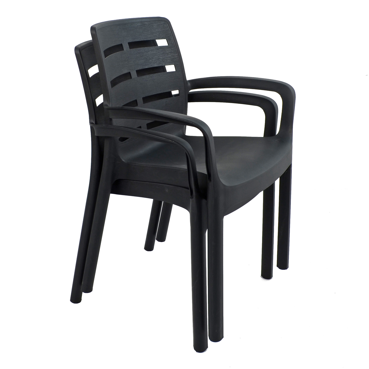 SIENA CHAIR ANTHRACITE PACK OF 2