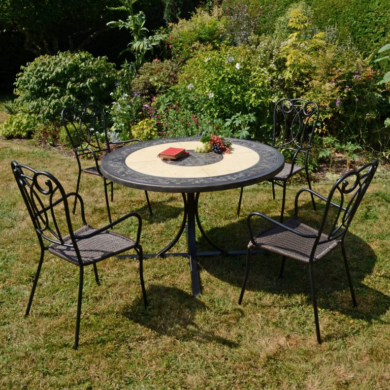 ST MALO DINING TABLE WITH 4 VERONA CHAIR SET OUTDOOR