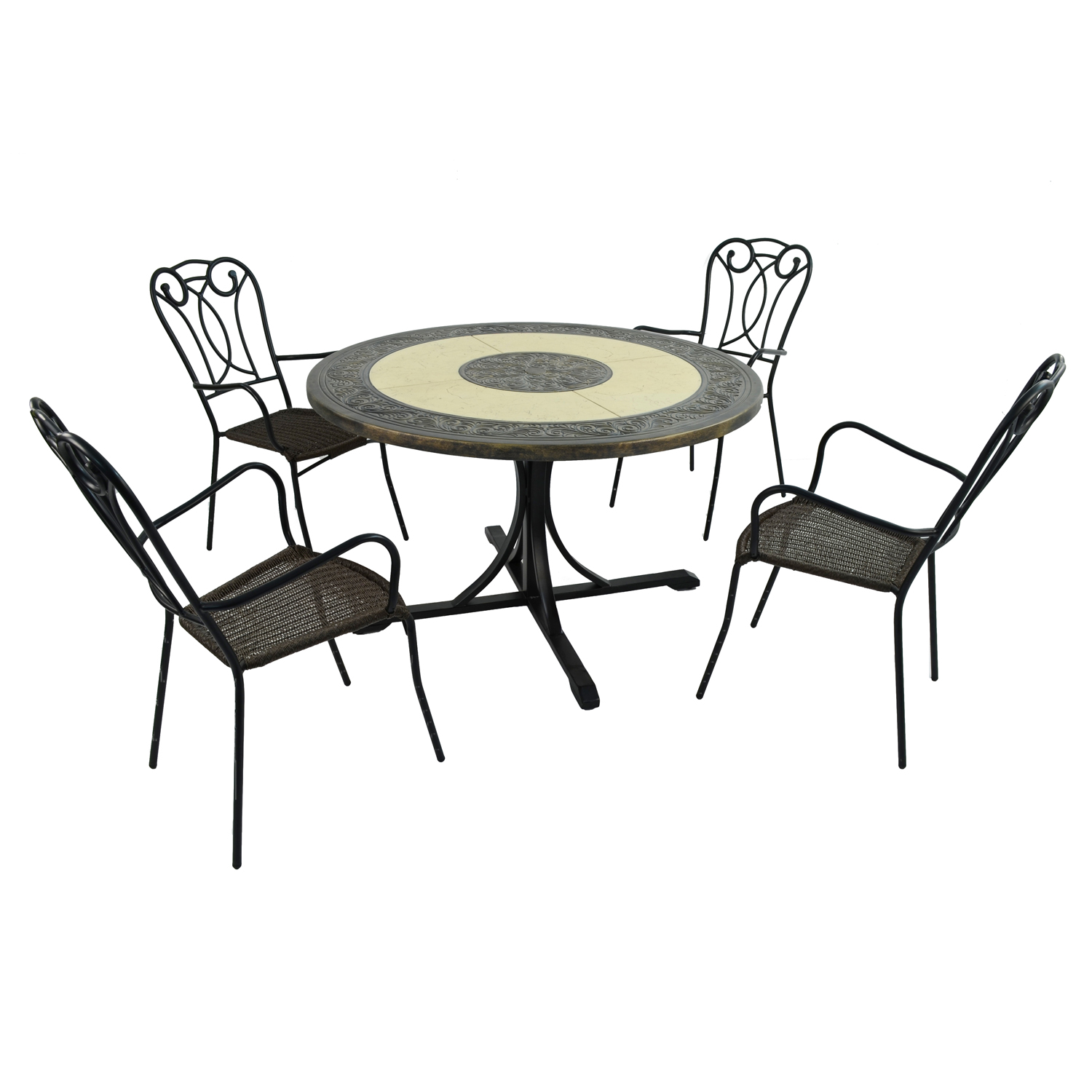 ST MALO DINING TABLE WITH 4 VERONA CHAIR SET