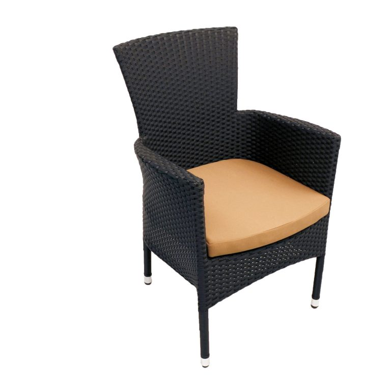 STOCKHOLM CHAIR BLACK FRONT RIGHT