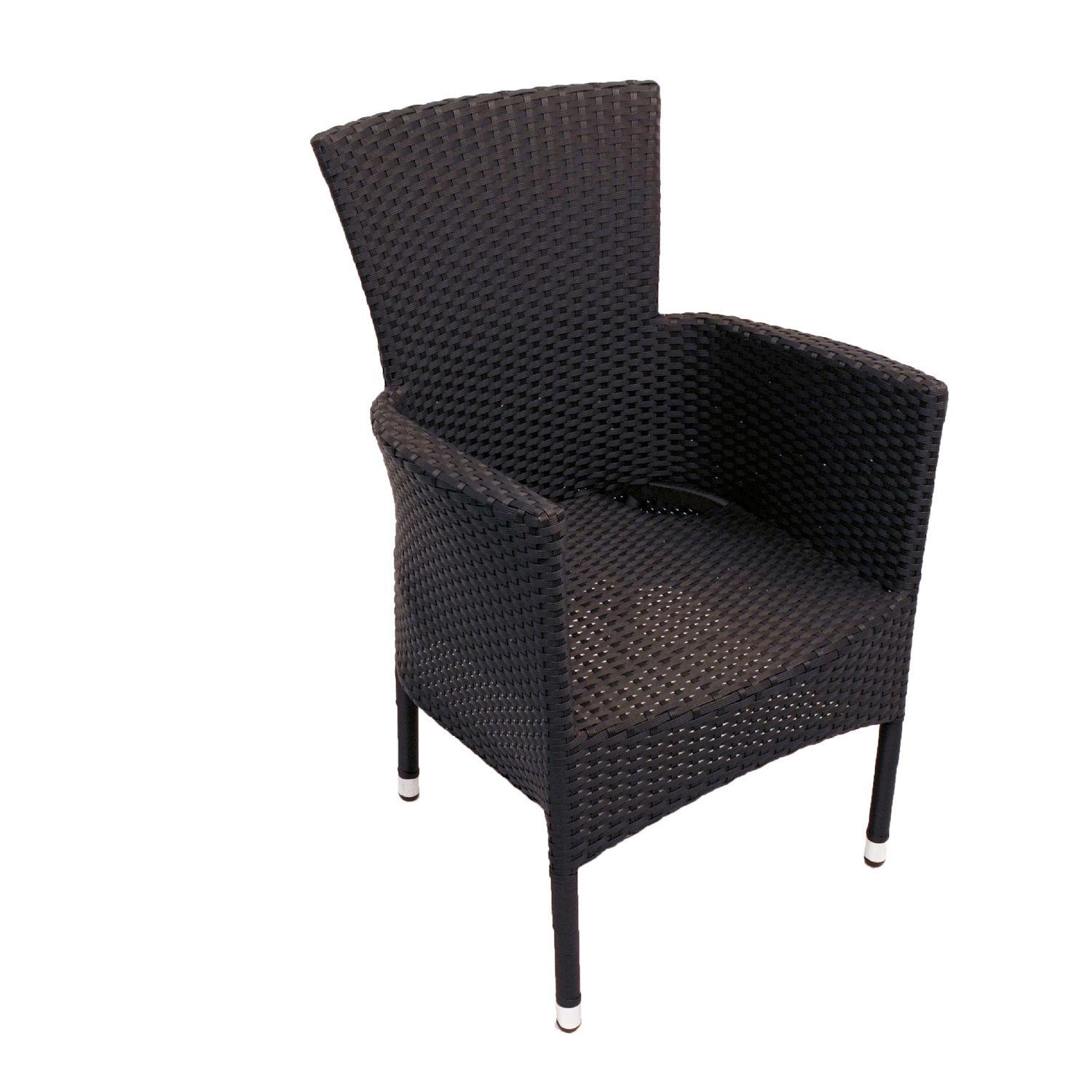 STOCKHOLM CHAIR BLACK FRONT RIGHT UNDRESSED