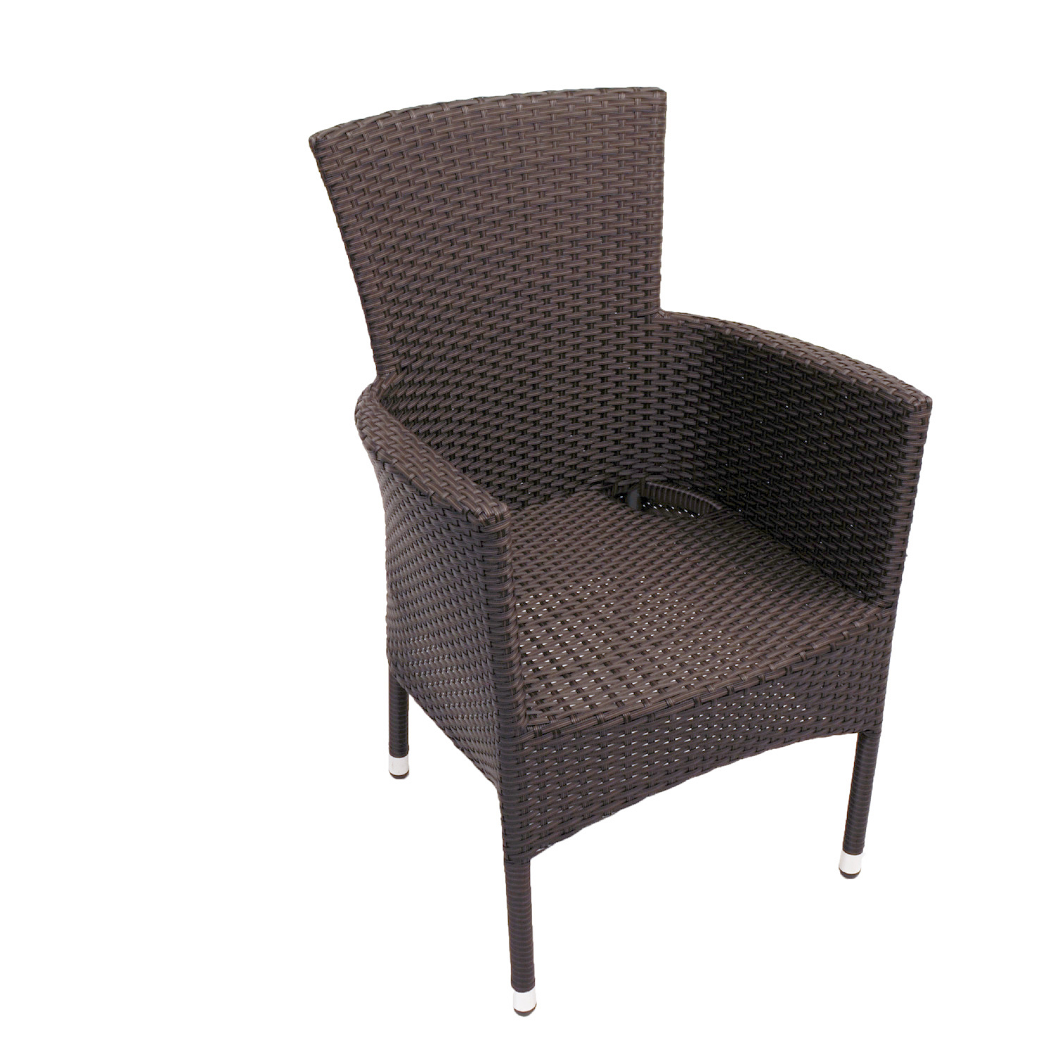 STOCKHOLM CHAIR BROWN FRONT RIGHT UNDRESSED
