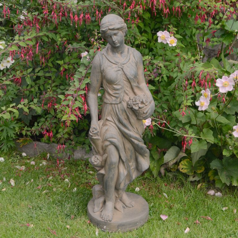 SUSIE IN SPRING 84CM RUST EFFECT OUTDOOR