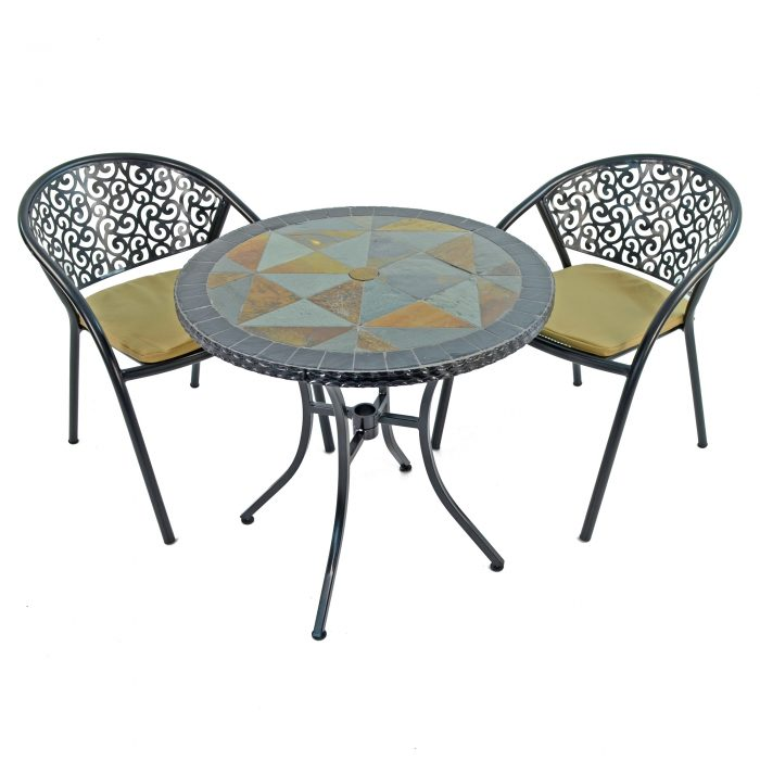 TOBARRA 76CM WITH BISTRO 2 FLORENCE CHAIRS SET WS1