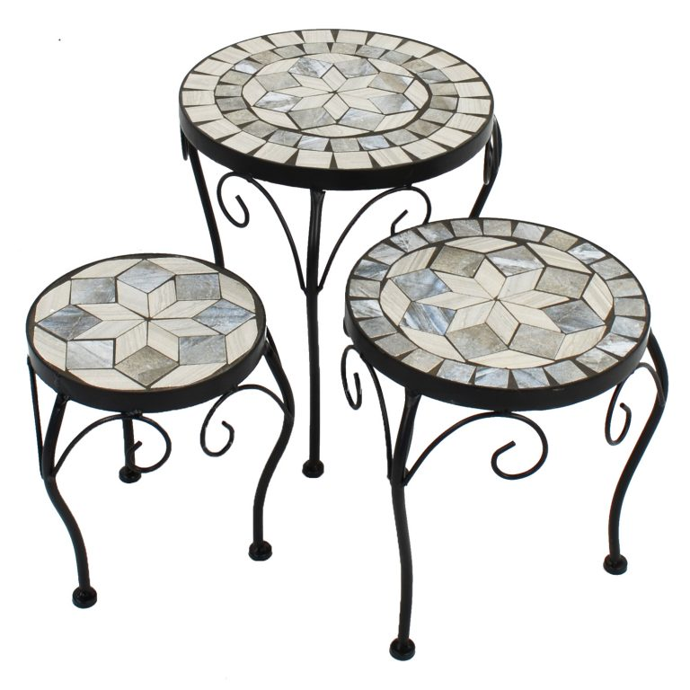 VERDE PLANTSTAND SET OF 3 LOW 1
