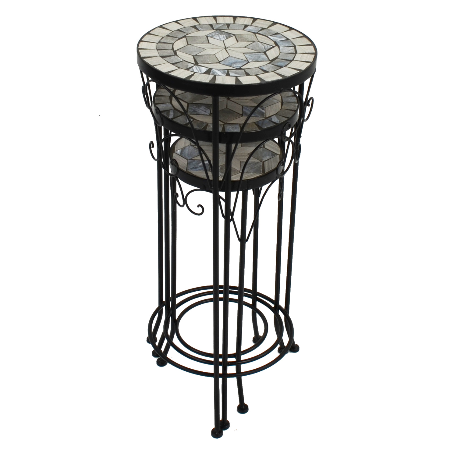 VERDE PLANTSTAND SET OF 3 TALL STACKED