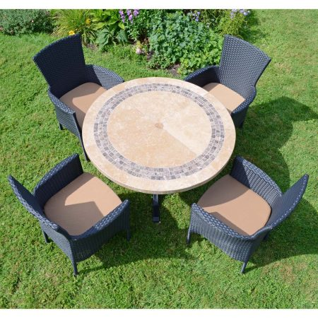 VERMONT DINING TABLE WITH 4 STOCKHOLM BLACK CHAIRS SET LG1