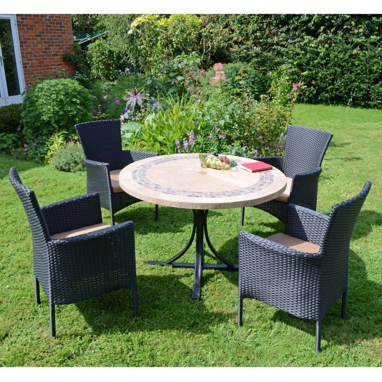 VERMONT DINING TABLE WITH 4 STOCKHOLM BLACK CHAIRS SET LG2
