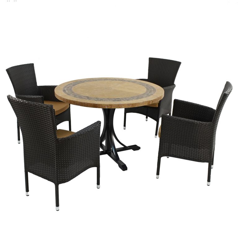 VERMONT DINING TABLE WITH 4 STOCKHOLM BROWN CHAIR SET