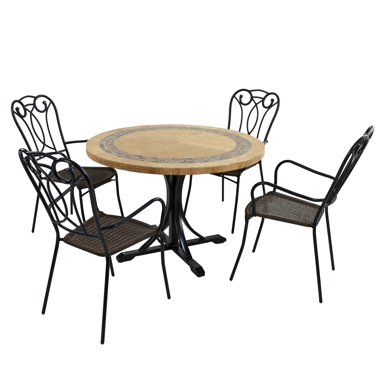 VERMONT DINING TABLE WITH 4 VERONA CHAIR SET