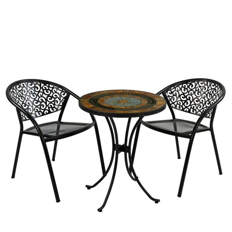 VILLENA 60CM BISTRO WITH 2 FLORENCE CHAIR SET