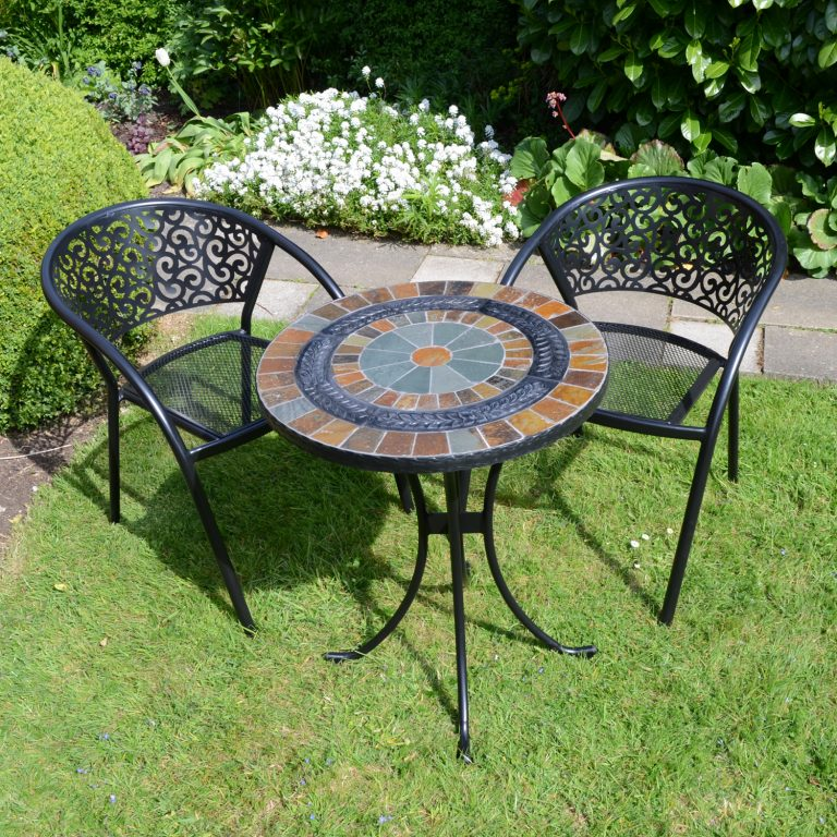 VILLENA 60CM BISTRO WITH 2 FLORENCE CHAIRS SET LG1