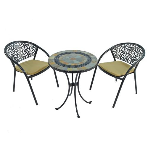 VILLENA 60CM BISTRO WITH 2 FLORENCE CHAIRS SET WS1