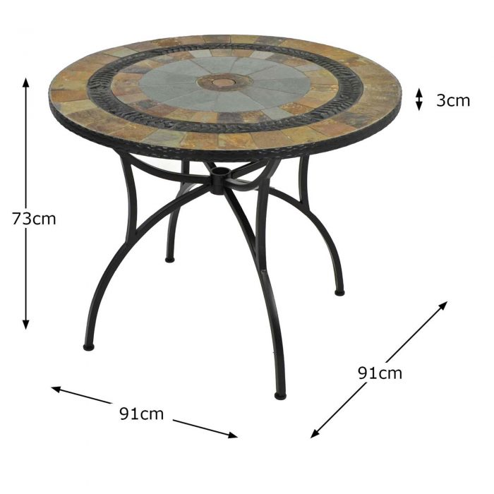 VILLENA 91CM PATIO TABLE DIMENSION MS1