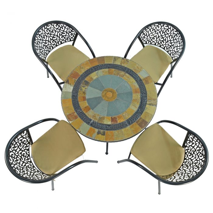 VILLENA 91CM PATIO WITH 4 FLORENCE CHAIRS SET WS2
