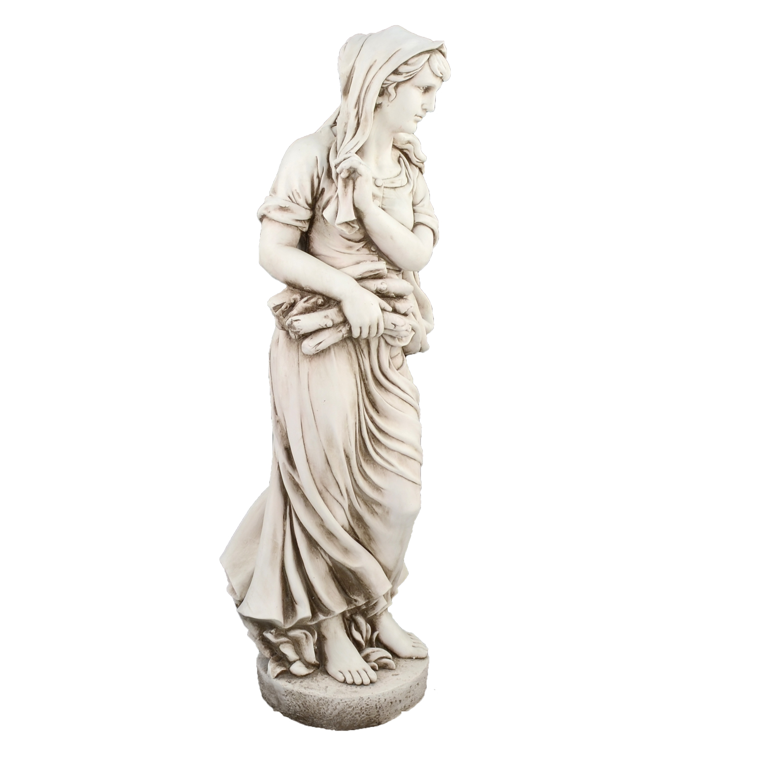 WILMA IN WINTER 119CM ANTIQUE STONE EFFECT FRONT RIGHT