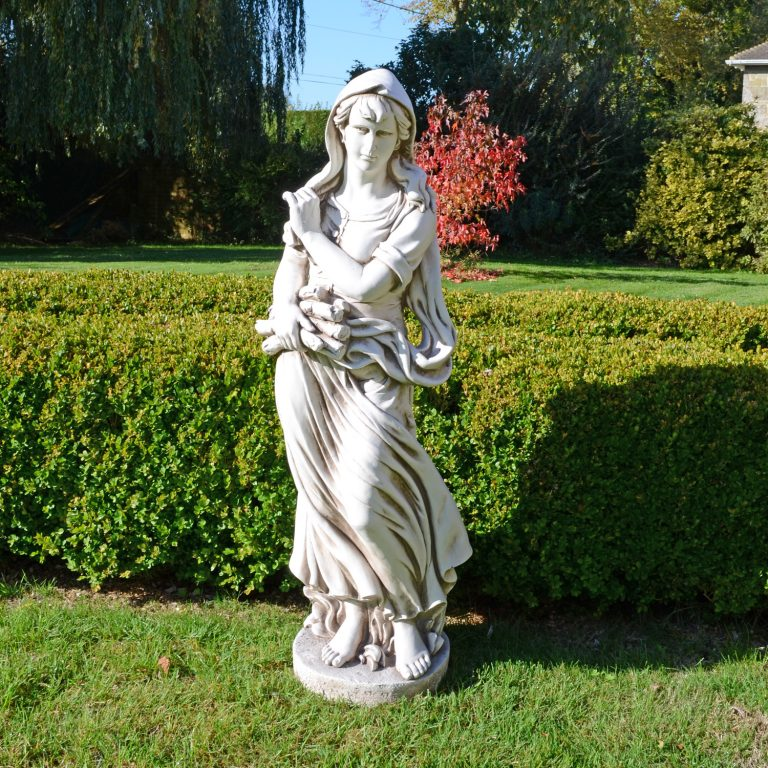 WILMA IN WINTER 119CM ANTIQUE STONE EFFECT OUTDOOR