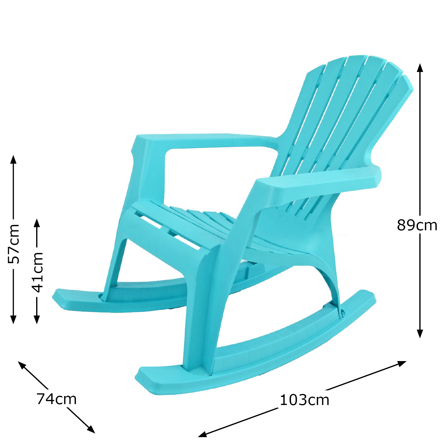ANDRIA ROCKING CHAIR BLUE DIMENSION MS1