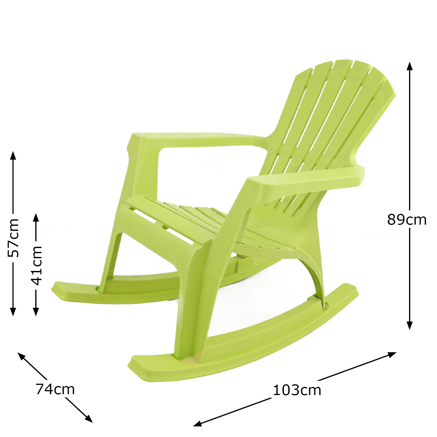ANDRIA ROCKING CHAIR LIME DIMENSION MS1
