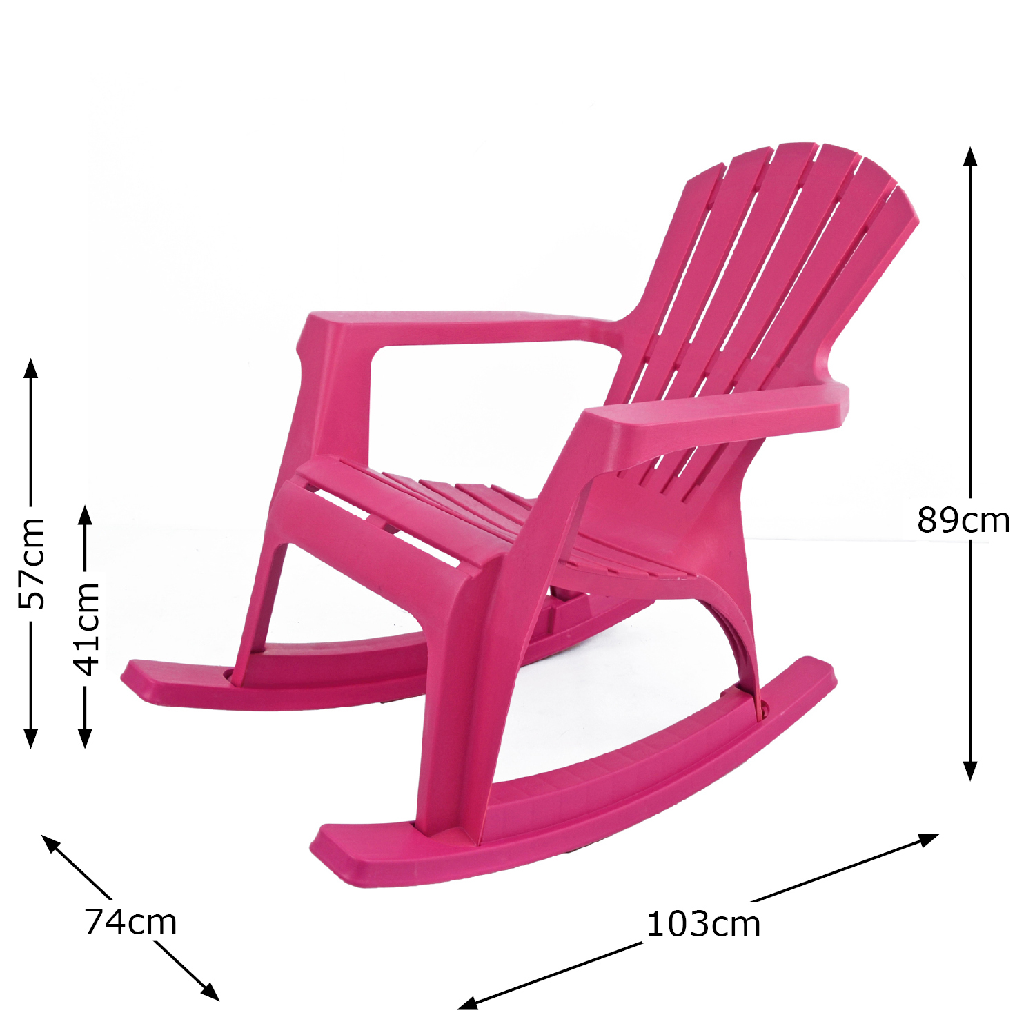 ANDRIA ROCKING CHAIR PINK DIMENSION MS1