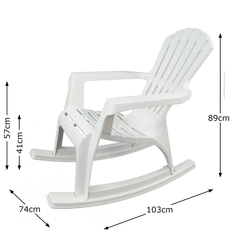 ANDRIA ROCKING CHAIR WHITE DIMENSION MS1