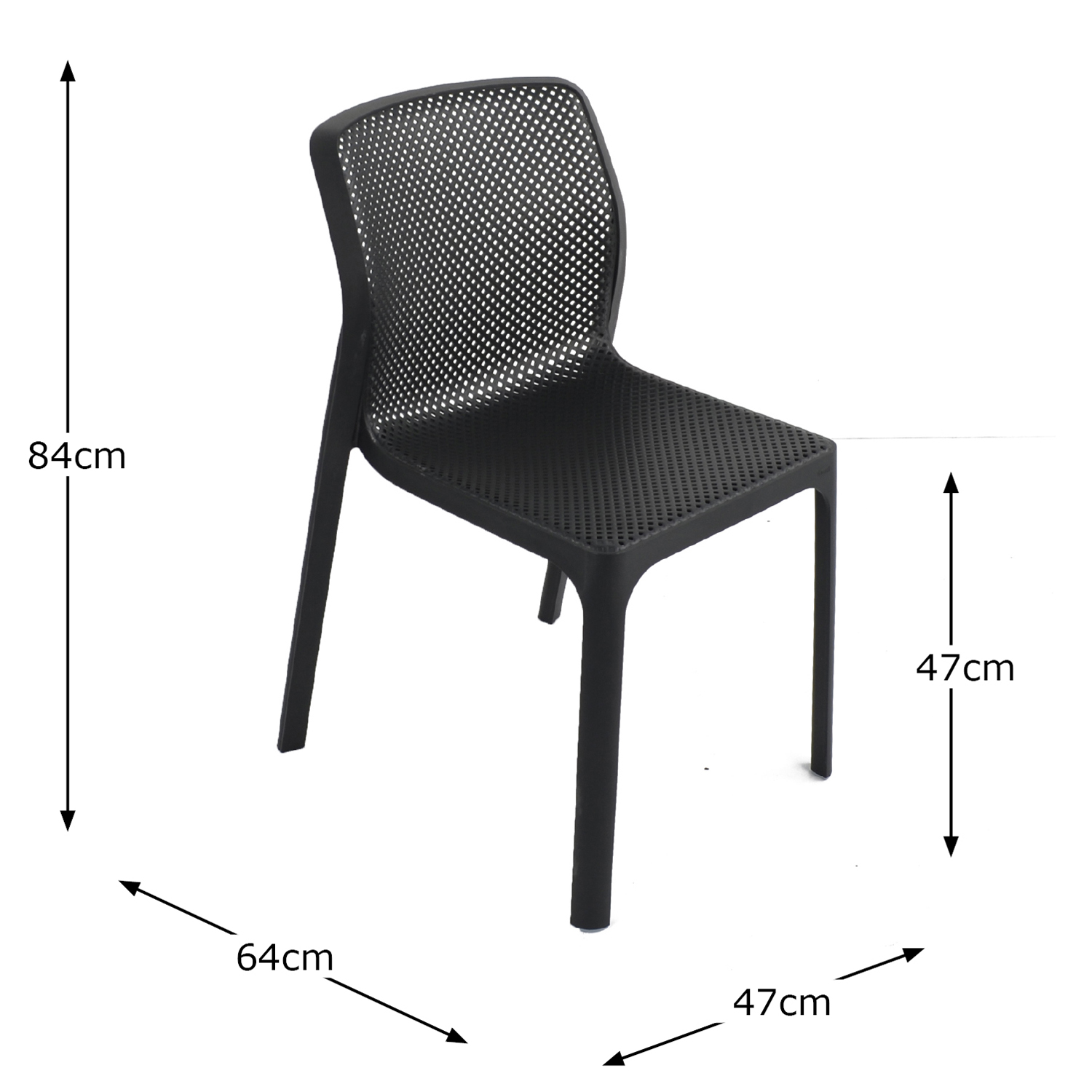 BIT CHAIR ANTHRACITE DIMENSION MS1