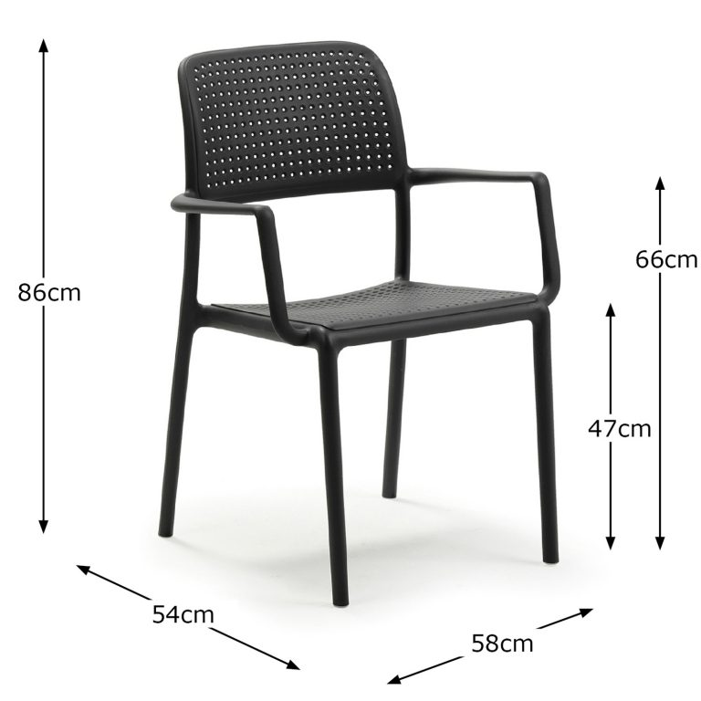 BORA CHAIR ANTHRACITE DIMENSION MS1