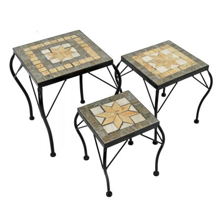 BRAVA SQUARE PLANTSTAND SET OF 3 LOW PROFILE WS1