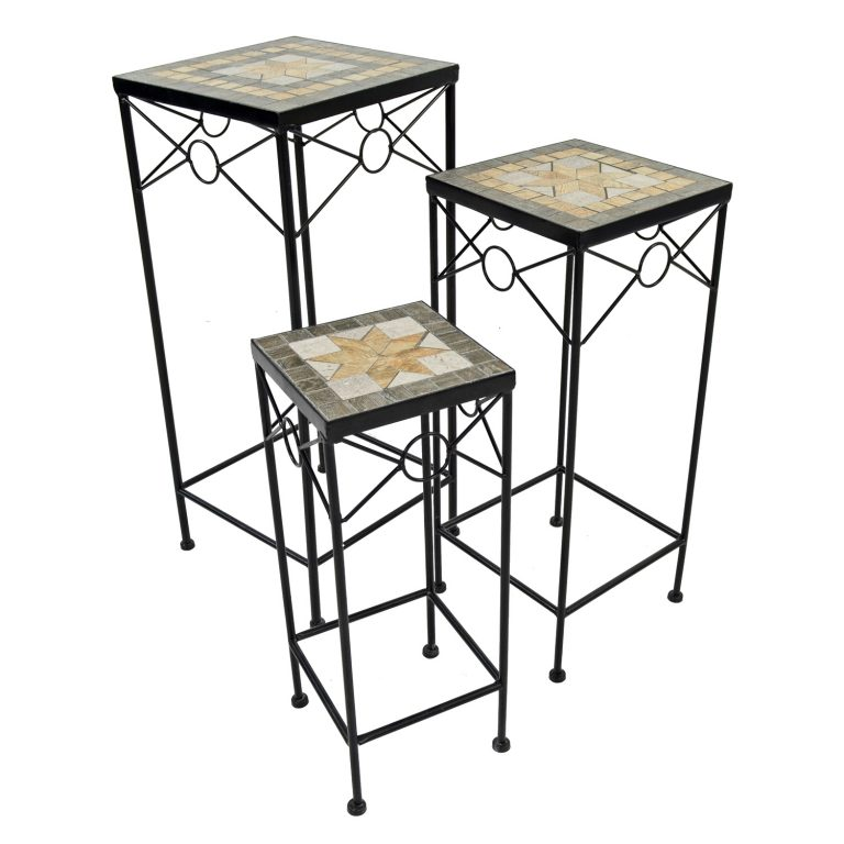 BRAVA SQUARE PLANTSTAND SET OF 3 TALL PROFILE WS1