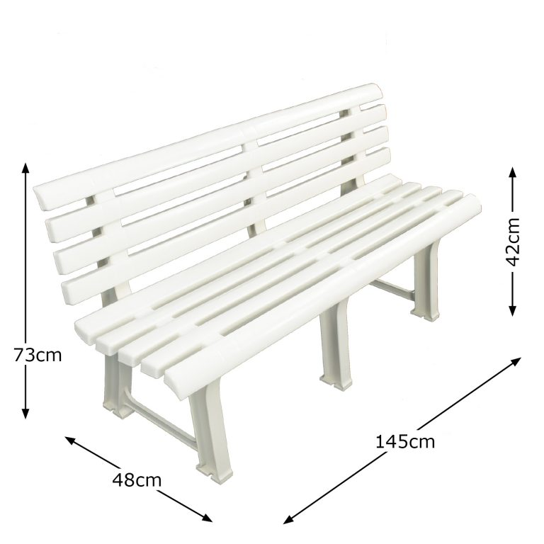 BRINDISI BENCH WHITE DIMENSION MS1