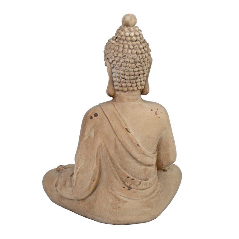 BUDDHA SITTING 42CM WEATHERED STONE EFFECT PROFILE WS11