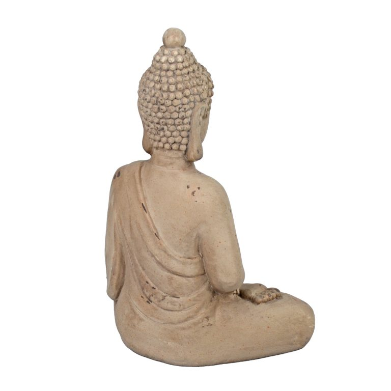 BUDDHA SITTING 42CM WEATHERED STONE EFFECT PROFILE WS9